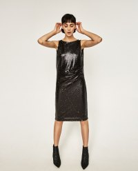 TUBE DRESS WITH SEQUINS at ZARA