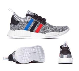 Adidas Originals NMD R1 Primeknit 'Tri-Colour' Trainer at Footasylum
