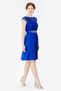 Blue Lori Lee Lace Short Dress at Coast