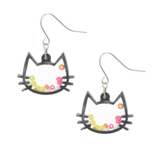 Cat Shaker Drop Earrings at Claire's