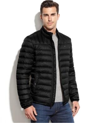 Tommy Hilfiger Men's Lw Packable Down Bomber Jacket
