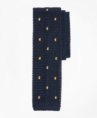 Tossed Pine Knit Tie at Brooks Brothers