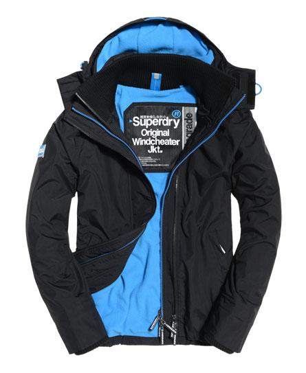 Mens Pop Zip Hooded Arctic Windcheater Jacket by Superdry