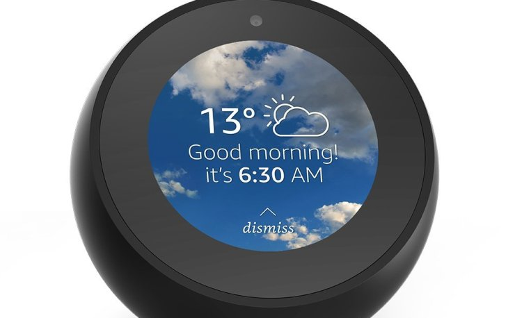 Amazon Echo Spot, Smart Alarm Clock with Alexa at Amazon