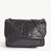 elfridges Saint Laurent medium monogram niki leather cross body bag
