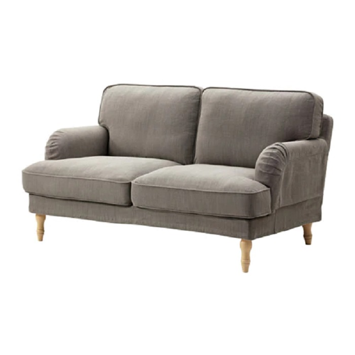 Stocksund 2 seat sofa nolhaga grey beige light brown wood