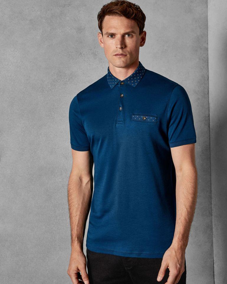Ted Baker Critter Short sleeved cotton polo shirt