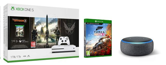 Xbox One S 1TB Console Tom Clancy's The Division 2 Bundle Forza Horizon 4 All-new Echo Dot (3rd Gen)