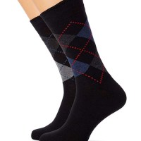 FM London 12-Pack Men's Smart Black Socks at Amazon
