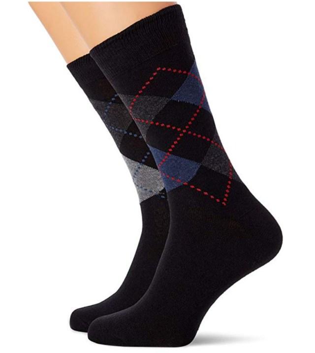 FM London 12-Pack Men's Smart Black Socks at Amazon