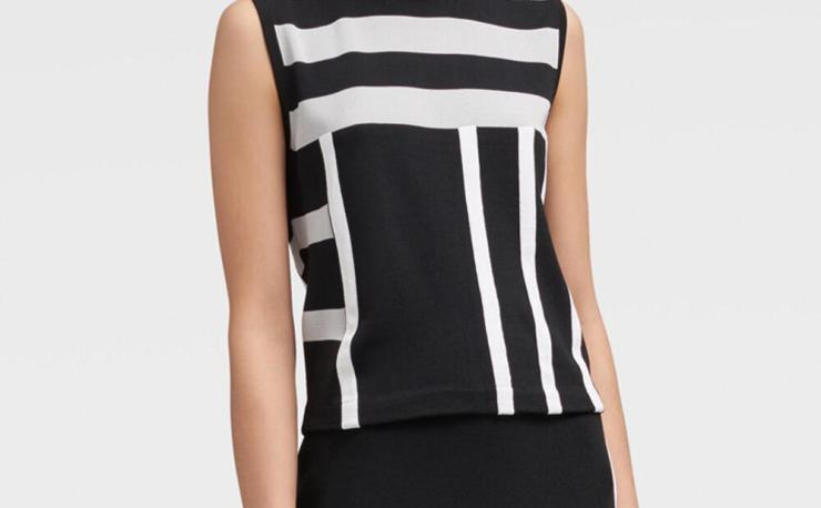Knit Colorblock Tank Top by DKNY