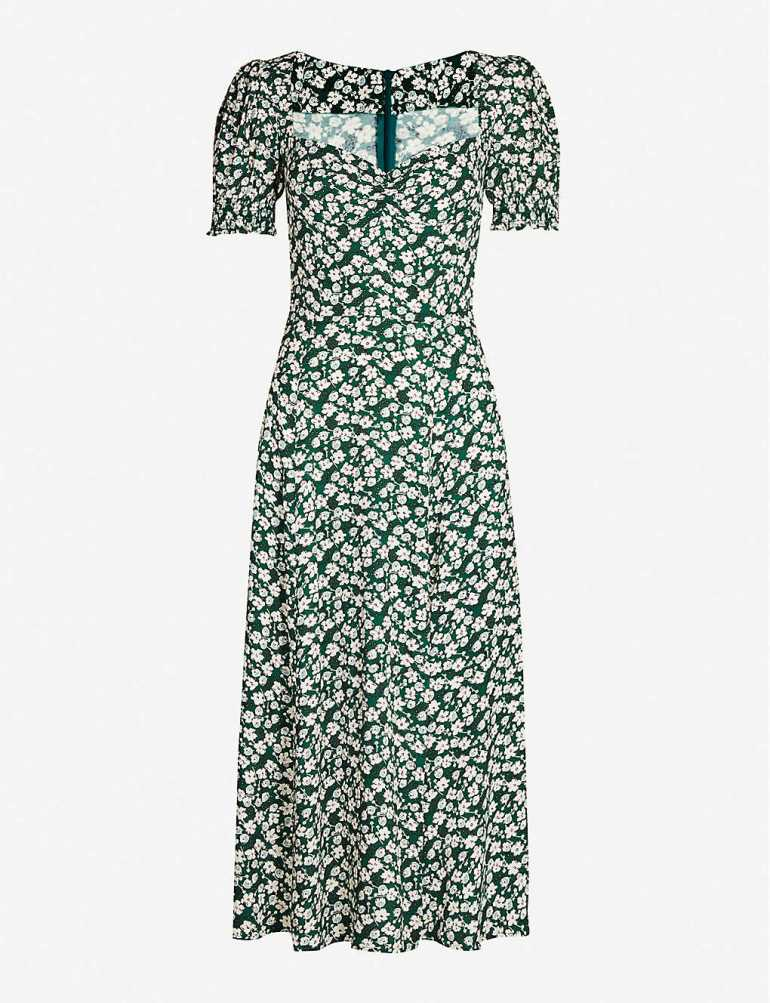 Designer dresses at Selfridges Reformation midi dress