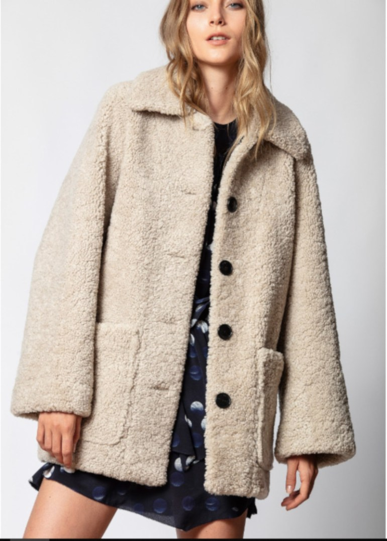 Magdas Shearling Coat at Zadig & Voltaire
