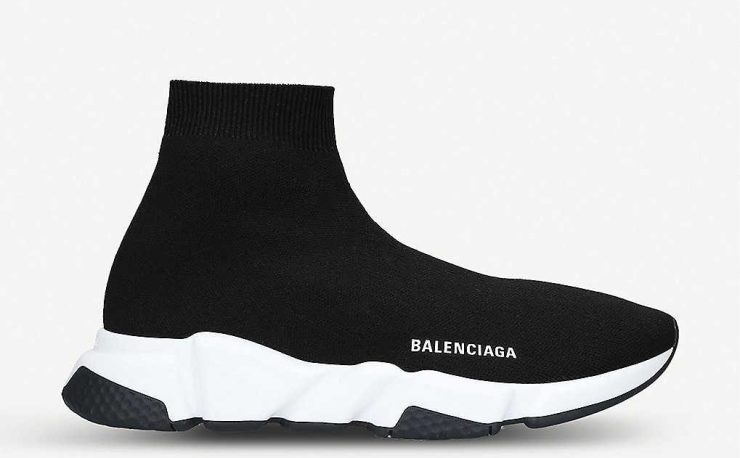 Selfridges shoes Balenciaga speed woven mid-top trainers