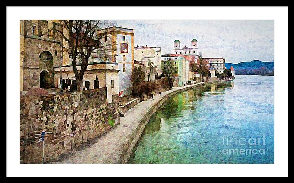 Danube River Passau, Germany - framed print by Tatiana Travelways
