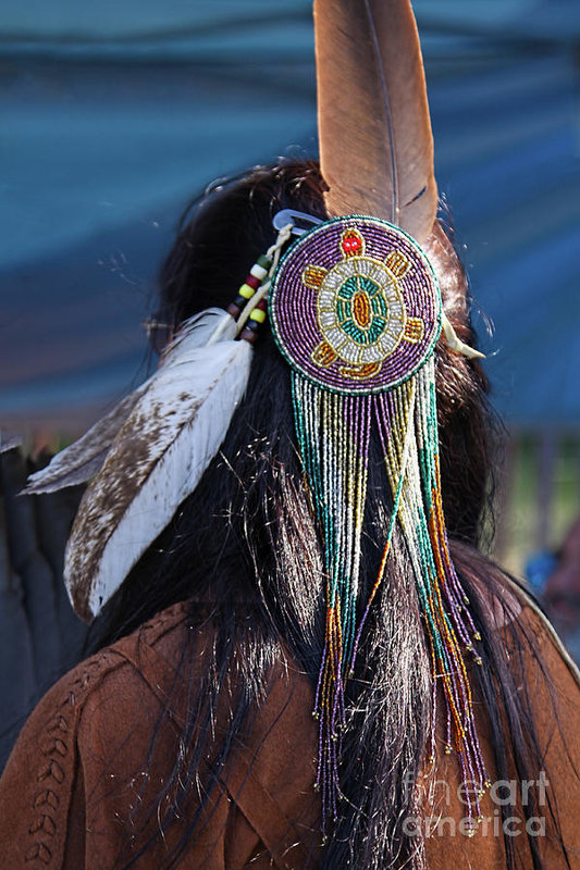 Native American Turtle Hair Ornament