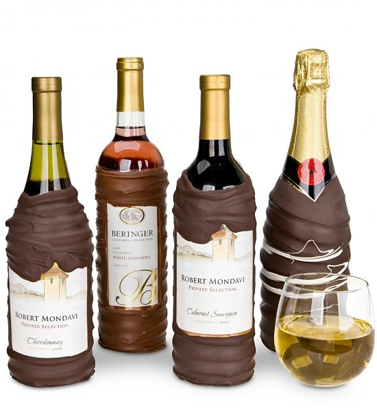 Chocolate Dipped Wine Champagne