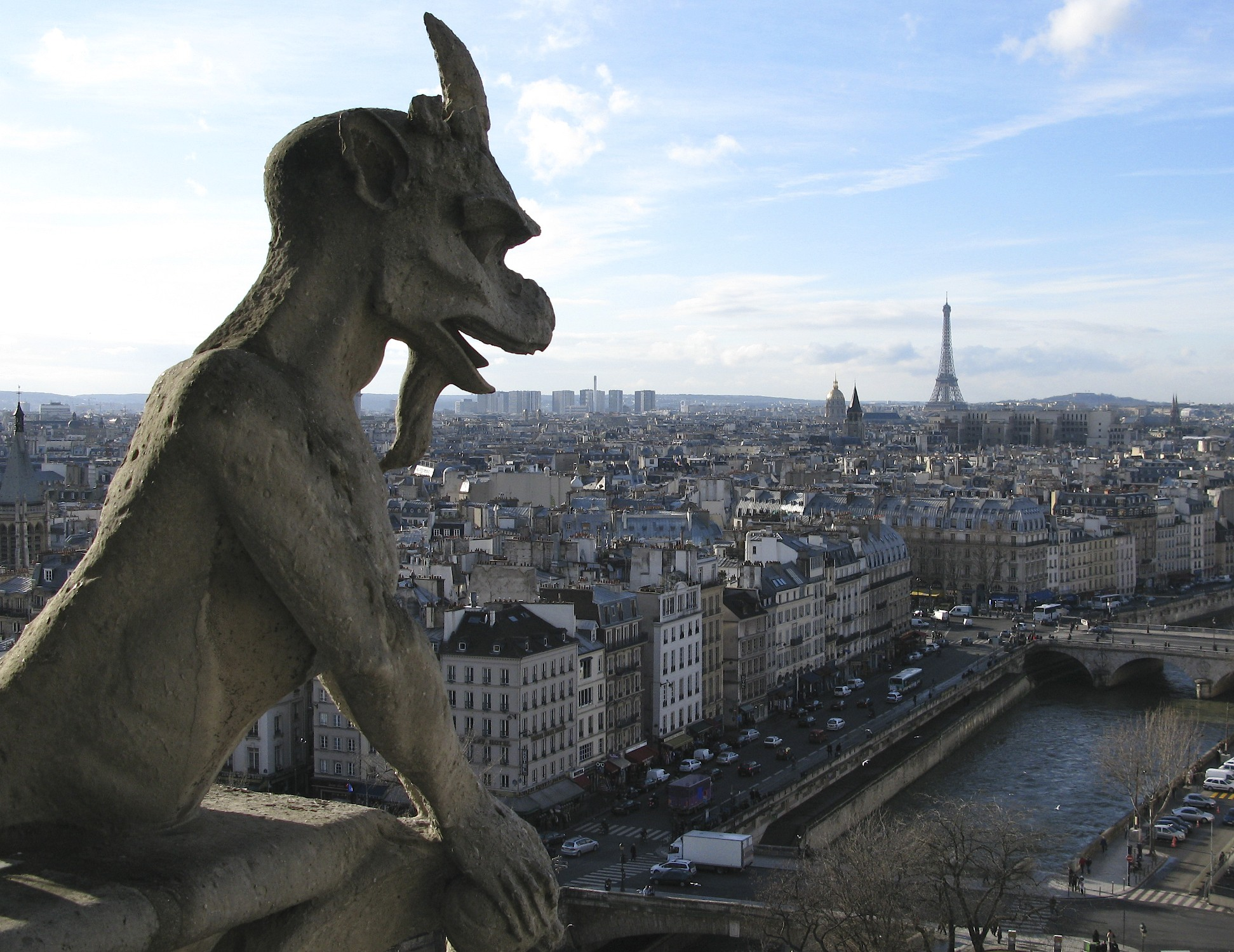 Paris from the Towers of Notre-Dame Cathedral