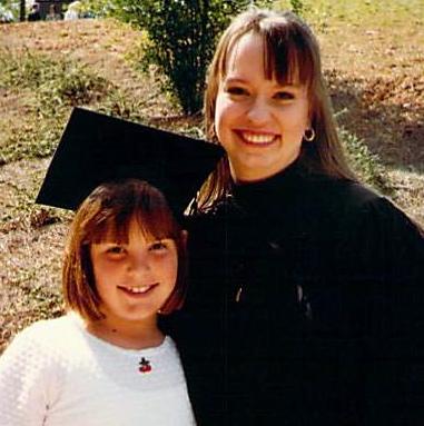 Miranda Wearing Jennie's College Cap On Graduation Day