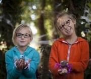 Two children enjoying the countryside