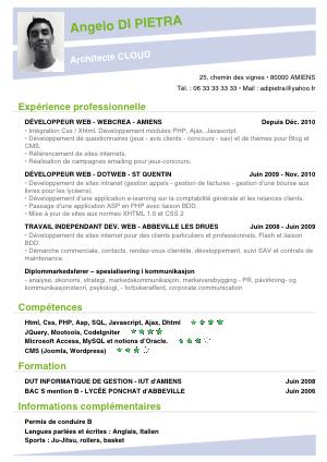 exemple de CV appli giga-cv