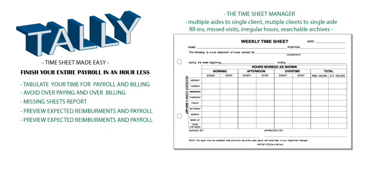 Tally   the ultimate time sheet manager    Giga Applications Tally     the ultimate time sheet manager