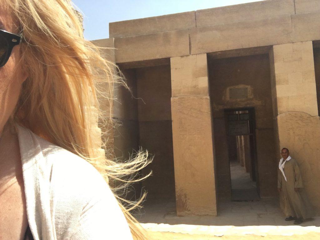 Entrance of the mastaba of Ti in Sakkara