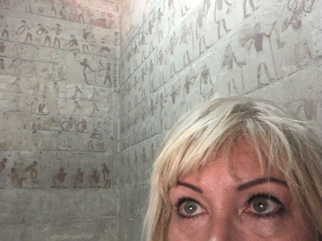 Antoine Gigal inside Ti mastaba in Sakkara