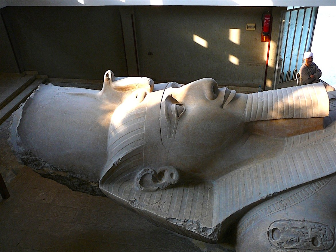 The smile of Ramses II at Memphis by Antoine Gigal