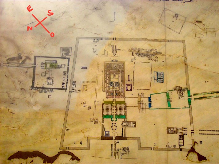 Temple of Karnak map,Photo by Antoine Gigal