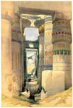Karnak temple par David Roberts