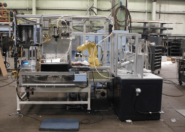 Manufacturing equipment at Ambri's prototype plant.