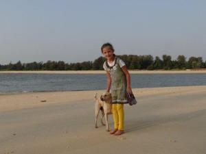 Julia und Hund...