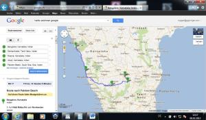 Karte bis Goa