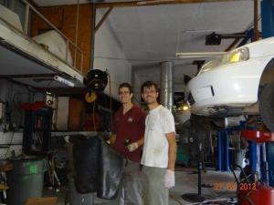 Claudio hat immer wieder mal im Carshop geholfen, einfach weil's toll war...