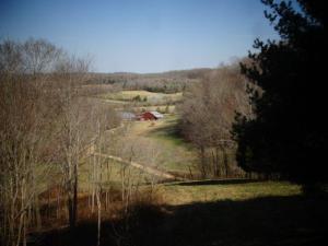Langsam wird es grün... unten ein Teil der Farm...