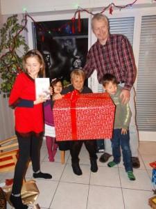 Weihnachten mit der Familie von meinem Bruder und Mormor...