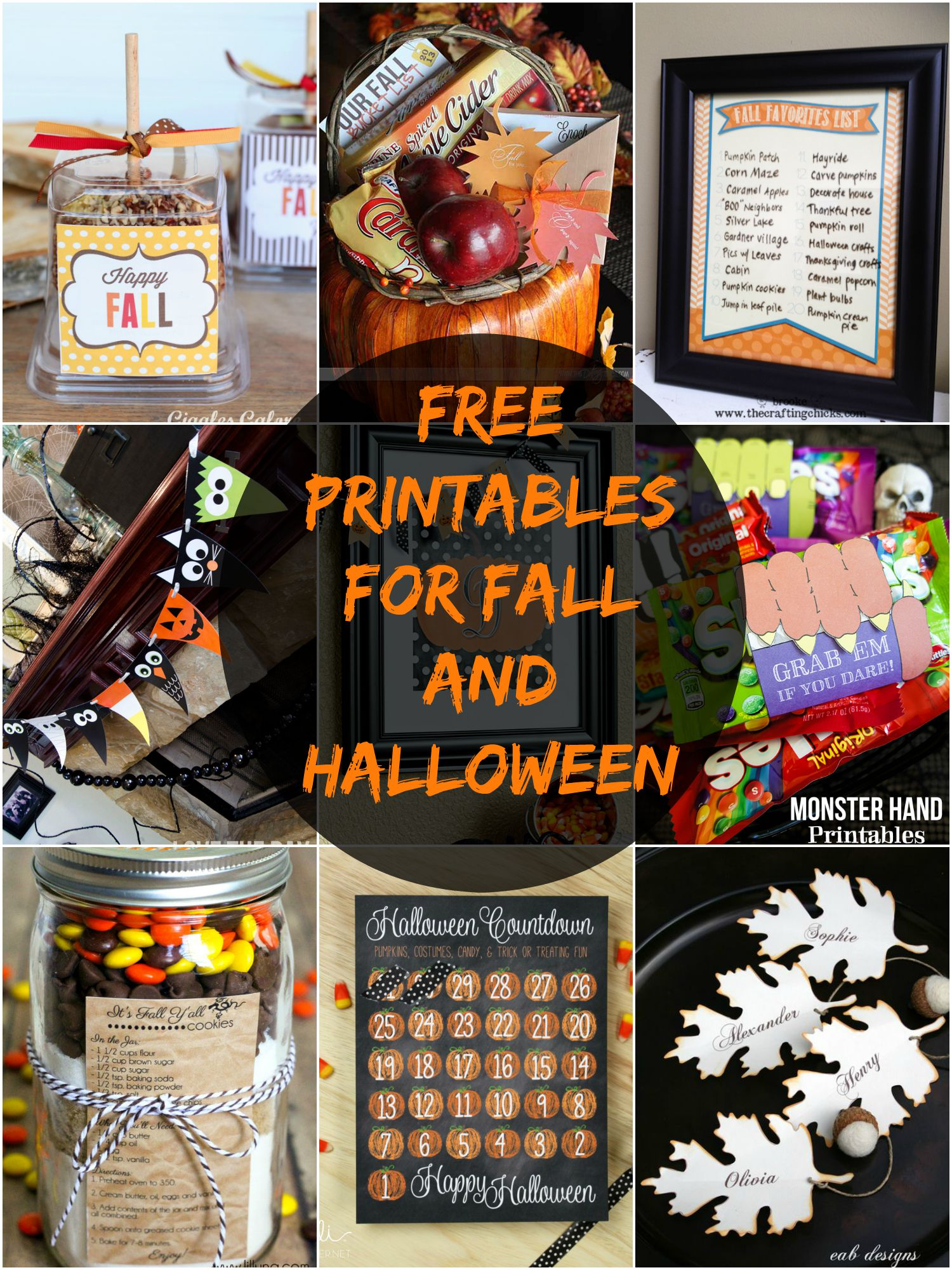 Free Printables For Fall And Halloween