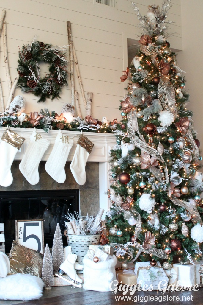 Glam Metallic Farmhouse Christmas Tree Giggles Galore