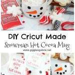 Diy Cricut Snowman Mugs Gift Idea Giggles Galore