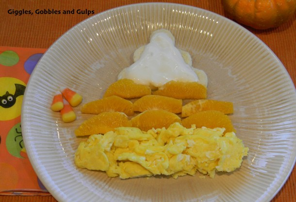 halloween candy corn breakfast idea