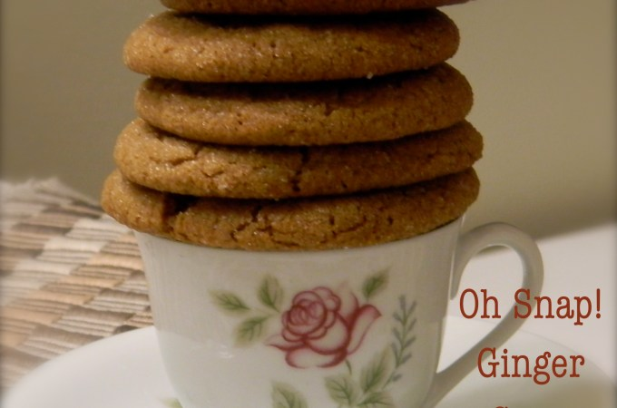 Oh Snap!  Ginger Snap Cookies Made by the Kids