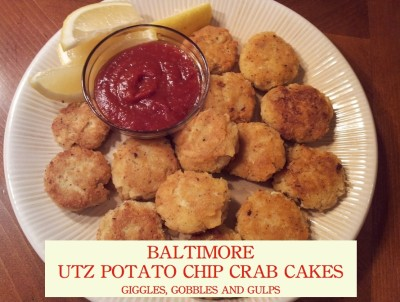Super GameXLVII Themed Meals: Baltimore Utz Potato Chip Crab Cakes