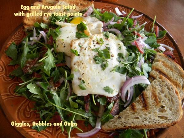 egg and arugula salad 2