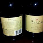 Second course wine offering - Byron Pinot Noir, California