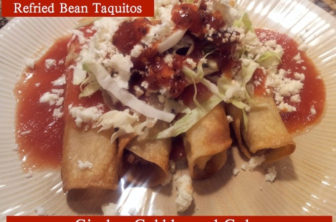 Authentic Mexican Refried Bean Taquitos