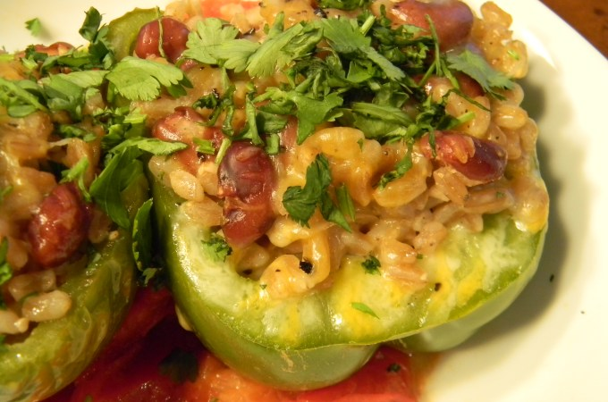 Farro and Bean Stuffed Peppers