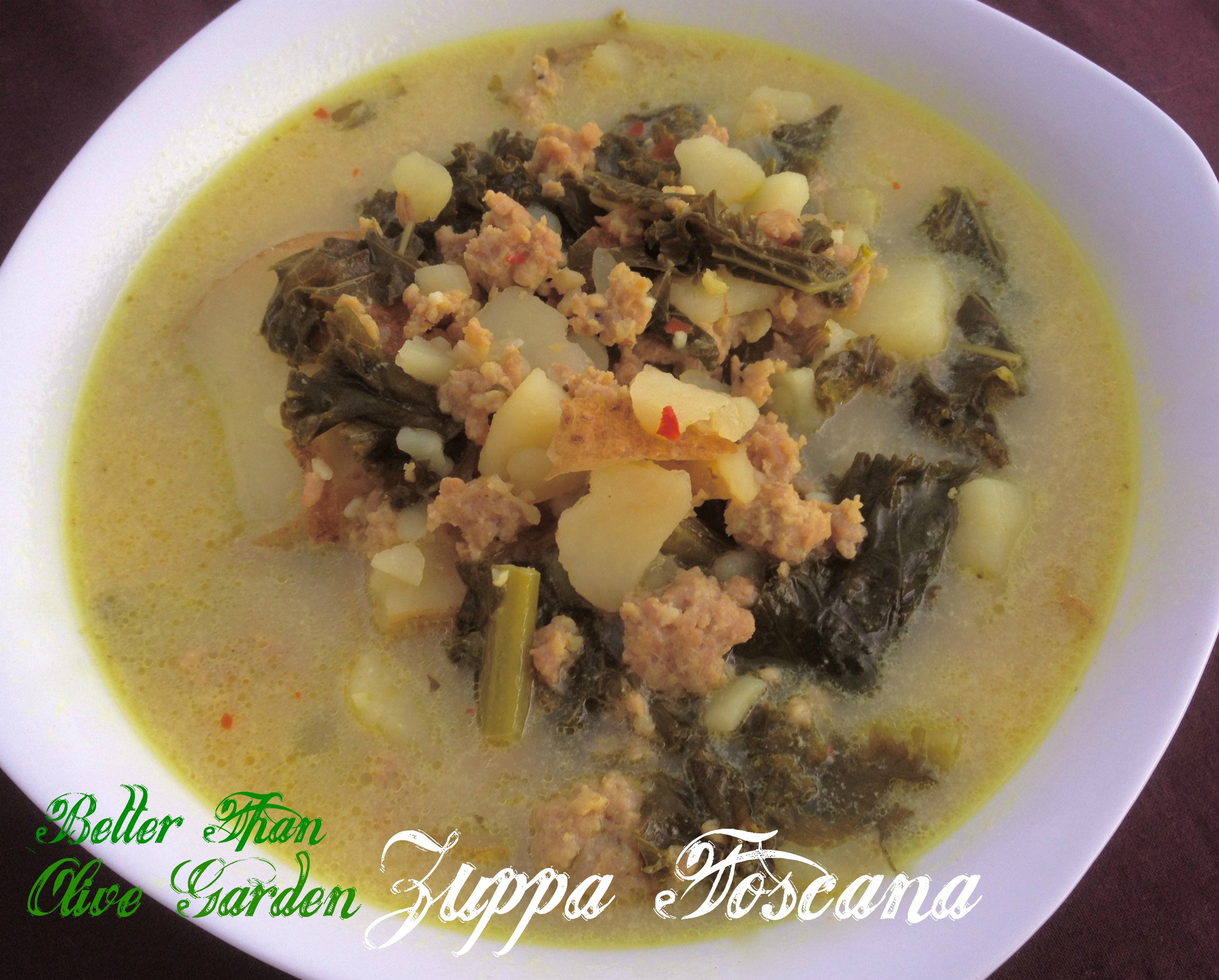 Sausage Potato and Kale Zuppa Toscana - Giggles, Gobbles and Gulps