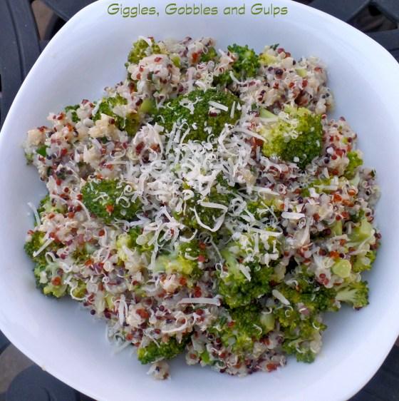 quinoa and broccoli