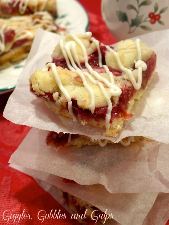 cranberry coconut shortbread bars